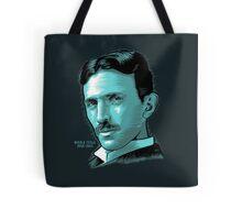 Nikola Tesla Portrait Science Electrical Tote Bag