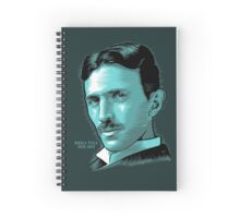Nikola Tesla Portrait Science Electrical Spiral Notebook