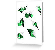 Green Geometric Greeting Card