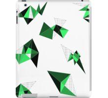 Green Geometric iPad Case/Skin