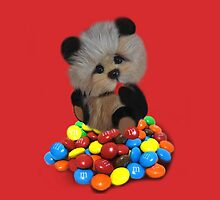 THE THINGS THAT MAKE U GO MM-BEAR EATING M&M's THROW PILLOW & TOTE BAG.HOW CUTE IS THAT by ✿✿ Bonita ✿✿ ђєℓℓσ