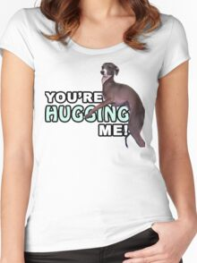 Youre Hugging Me! - Kermit, Jenna Marbles Women's Fitted Scoop T-Shirt