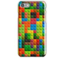 3D seamless pattern of plastic lego parts iPhone Case/Skin