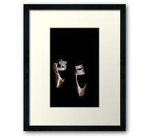 Point Shoes Framed Print
