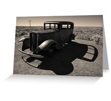 Old Vehicle VI Toned Greeting Card
