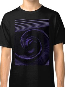 Purple spiral, abstraction, visual, optical illusion Classic T-Shirt
