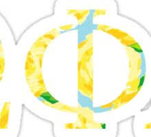 Omega Phi Alpha Lilly Pulitzer First Impression Yellow Sticker