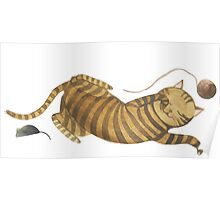 Cat & Mouse Sleeping 1 Poster