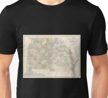 0104 Railroad Maps Map of Georgia Alabama exhibiting the post offices post roads canals rail roads c by David H Burr Late topographer to the Post Office Geographer to the Unisex T-Shirt