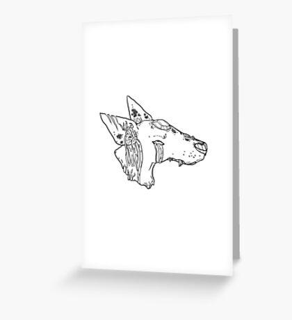 Dead Dog Greeting Card