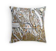 Shoreline Debris Throw Pillow
