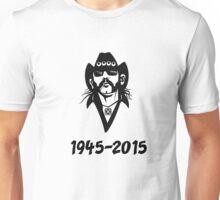 Lemmy Kilmister in memorial  Unisex T-Shirt
