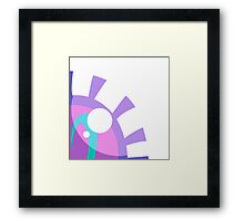 Purple Eye Framed Print
