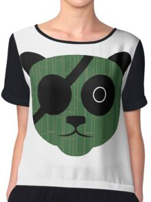 Eyepatch Bamboo Panda Graphic Chiffon Top