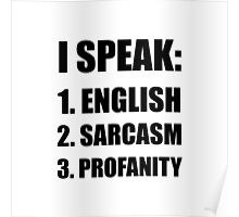 English Sarcasm Profanity Poster