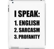 English Sarcasm Profanity iPad Case/Skin