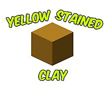Yellow Stained Clay Photographic Print