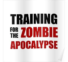 Training For The Zombie Apocalypse Poster
