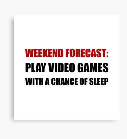 Play Video Games Sleep Canvas Print