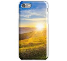 agricultural field in mountains iPhone Case/Skin