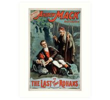 Performing Arts Posters The singing comedian Andrew Mack in the The last of the Rohans by Ramsay Morris 1114 Art Print