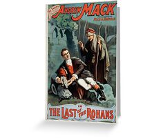 Performing Arts Posters The singing comedian Andrew Mack in the The last of the Rohans by Ramsay Morris 1114 Greeting Card