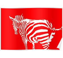 abstract zebra in the farm Poster