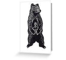 Cupcake Bear Cub Greeting Card
