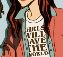 Stranger Things: Nancy - Girls will Save the World Sticker