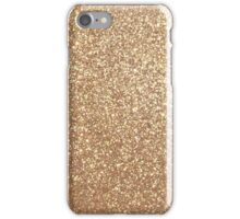 Copper Rose Gold Metallic Glitter iPhone Case/Skin