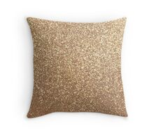 Copper Rose Gold Metallic Glitter Throw Pillow