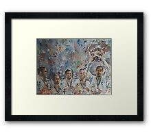 Andy Murray and his team- Davis Cup Winners Framed Print