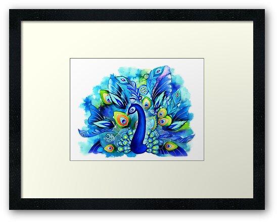 Peacock in Full Bloom by Annya Kai