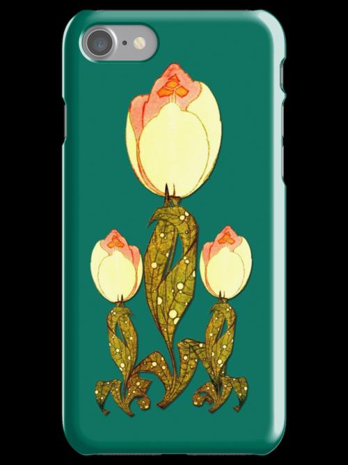 Art Deco Tulip iPhone4 Case by Greenbaby