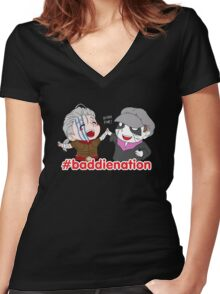 Baddie Nation - LARP Commission Women's Fitted V-Neck T-Shirt