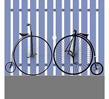 Penny Farthing cycle by Chris D Holland