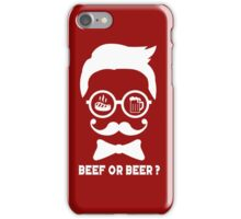 #7 BEEF OR BEER (White) iPhone Case/Skin