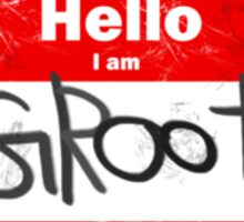 Hello- I am GROOT Sticker