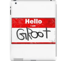 Hello- I am GROOT iPad Case/Skin