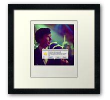 Sherlock Polaroids Framed Print