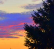 West Brome Sunset Landscape Sticker