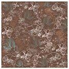 Floral Fantasy Duvet Cover , iPhone Case, Samsung Case, iPad Case, Pillows and Totes by Linda Allan