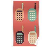 The Classic Cell Phones Poster