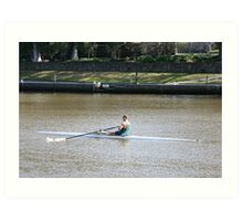 Sculling on the Yarra River Art Print