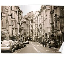 A Street in Paris Poster