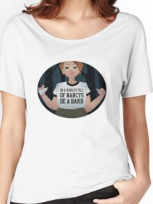 Stranger Things: In a World Full of Nancys Be a Barb Women's Relaxed Fit T-Shirt