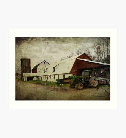 Farm Work ~ a Hard Life Art Print