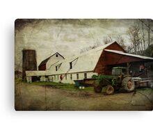 Farm Work ~ a Hard Life Canvas Print