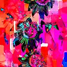 Psychedelic Floral  by Heather Friedman