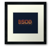 Burning BSOD Blue Screen of Death Framed Print